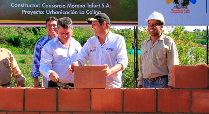 El Vicepresidente de la República, Germán Vargas Lleras, en el municipio de Andalucía. (MVCT) Foto: Cortesía Vicepresidencia.